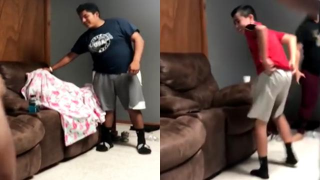 Family Trick Little Brother Into Thinking He's Invisible Aft