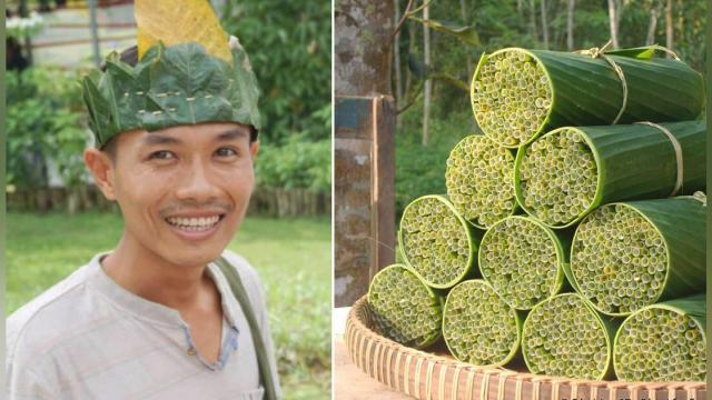 Vietnamese Man Makes Biodegradable Straws From Wild Grass