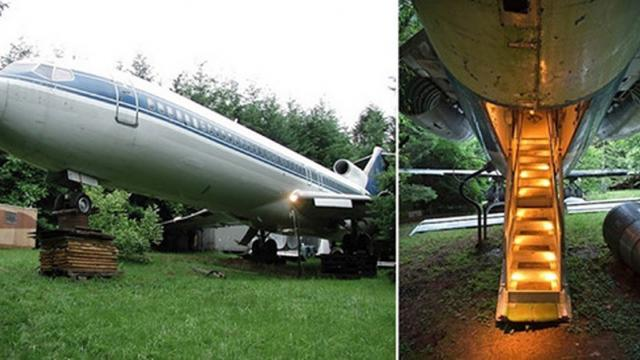 Man Turns Abandoned Boeing 727 Into A House To Make His Dream